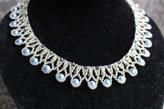 (5) Name: 'Jewelry : Beadwoven necklace 'Pearl Drops'