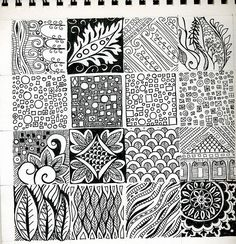 All sorts of creative doodles, zentangles and drawing tutorials. Tangle Doodle, Tangle Art, Doodles Zentangles, Zen Doodle, Doodle Art, Doodle Patterns, Doodle Designs, Zentangle Patterns, Motifs Organiques