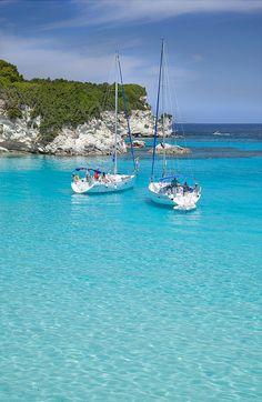 blue it is, Antipaxos, Greece