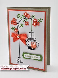 This is another card cased from one of my favourite designers Steffi Helmschrott.This card uses two Stampin Up stamps se...