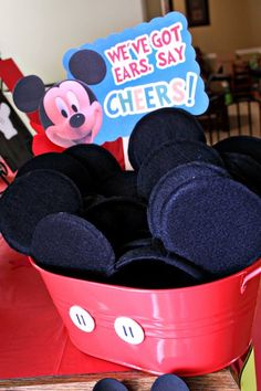 Mickey Mouse Ears. This is such a cute idea!!