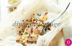 Σολομός στο χαρτί με μουστάρδα | Dina Nikolaou