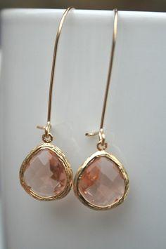 pretty champagne earrings