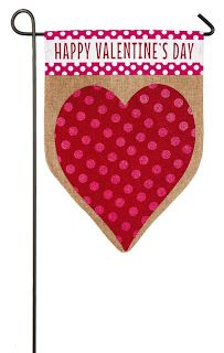 Evergreen Valentine's Day Heart Burlap Garden Flag, x 18 inches Give your garden a little love with this Valentine's Day themed flag. This Burlap Boutique Valentines Day Messages, Valentines Day Hearts, Valentines Day Decorations, Valentine Heart, Burlap Garden Flags, Burlap Flag, Burlap Fabric, Flag Holder, All Flags
