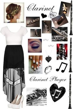"""""""Clarinet Player"""" by victoria-horan098 ❤ liked on Polyvore"""