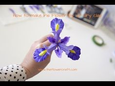 How to make Iris flower out of air dry clay – Part 1 | The Flower Craft