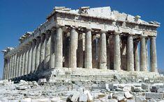 [フリー画像] 建築・建造物, 遺跡, パルテノン神殿, ギリシャ共和国, 世界遺産, 201009252300