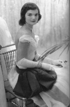 jackie kennedy, 1950s @Victoria Bartholomew I thought this was you when I first glimpsed it!