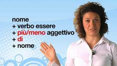 Lezione di grammatica italiana - I comparativi