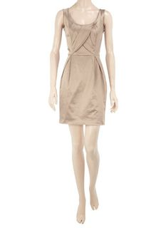 Champagne Fitted Wrap Dress -- (dorothy perkins)