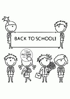 kids back to school coloring page for kids school coloring pages printables free wuppsy - Coloring Picture Of A School