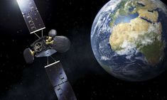 Second space data highway satellite set to beam New Scientist, Sky Design, Data Transmission, Beams, Product Launch, Space, Astronomy, Ali, Crafting