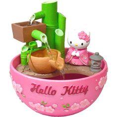 New Sanrio Hello Kitty Kimono Bamboo Fortune Aquarium Bowl with Pump Sanrio Hello Kitty, Chat Hello Kitty, Hello Kitty House, Hello Kitty Items, Hello Kitty Decor, Hello Kitty Products, Hello Kitty Collection, Sanrio Characters, Cool Stuff