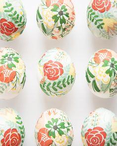 DIY Mode Podge Paper Napkin Easter Eggs