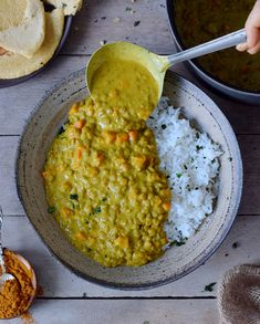 1 Pot Lentil Dal lentil dal with carrot. This creamy recipe is healthy vegan gluten-free and a satisfying comfort meal. Perfect for lunch dinner or meal prep! Lentil Dal Recipe, Lentil Recipes, Veggie Recipes, Vegetarian Recipes, Dahl Recipe, Vegetarian Cooking, Indian Food Recipes, Whole Food Recipes, Cooking Recipes