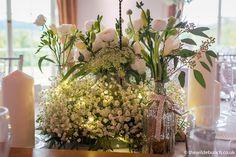 Country House Wedding Venues, London Bride, Gypsophila, Wedding Table, Centre, Wedding Flowers, Candles, Base, Lighting