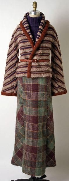 Ensemble Missoni; (Italian, founded 1953) Date: fall/winter 1973–74 Culture: Italian Medium: wool