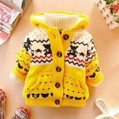 Baby Winter Warm & Thick Light Cotton Hooded Minion Jackets #babyouterwear