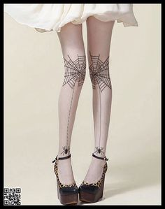 Spiderweb+Panty+Hose+Tights+Stockings+Leggings+ST1827+by+GravityUS,+$12.59