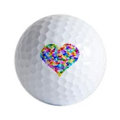 colorful heart golf ball ♥♥♥♥ ❤ ❥❤ ❥❤ ❥♥♥♥♥