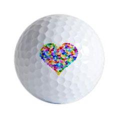 colorful heart golf ball ♥♥♥♥ ❤ ❥❤ ❥❤ ❥♥♥♥♥