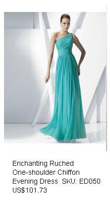Enchanting Ruched A-line One-shoulder Floor-length Chiffon Evening Dress