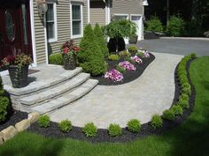 Front lawn landscape designs outdoor landscaping ideas front yard stunning front yard landscaping ideas on a Sidewalk Landscaping, Outdoor Landscaping, Front Yard Landscaping, Landscaping Design, Backyard Patio, Backyard Ideas, Walkway Ideas, Patio Ideas, Landscaping Software