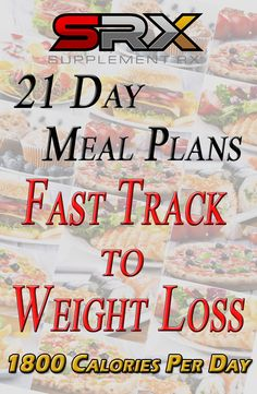 Want to lose weight but not sure what to eat? This easy-to-follow 21 Day Meal Plan provides a Fast Track to Your Weight Loss. Designed by a registered dietitian, this outline is geared for those on a 1800 Calories Per Day goal.