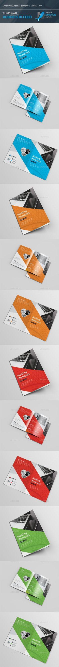 Square Bi Fold Brochure  Brochures Brochure Template And Ai