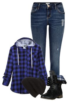"""Blue Plaid! ~Grace"" by isongirls ❤ liked on Polyvore featuring River Island, Phase 3, women's clothing, women's fashion, women, female, woman, misses, juniors and plaid"