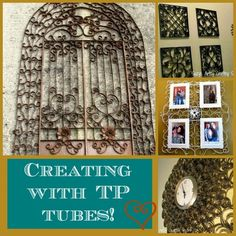 I'm a big fan of crafting with recycled items.  I decided to try my hand at mixing some quilling techniques and toilet paper tubes to come up with some faux met…