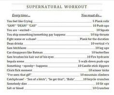 Well Im going to ebb super fit. It will all most be SUPERNATURAL