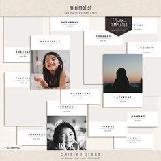 Minimalist (3x4 Photo Templates)