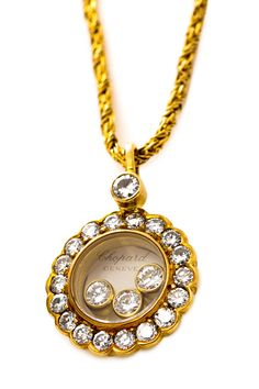 Chopard 18K Yellow Gold Happy Diamond Necklace on HauteLook