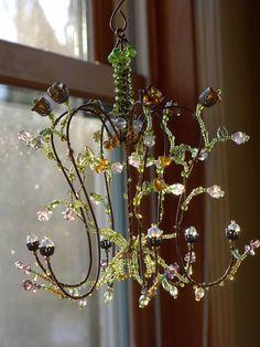 A May Flowers Sunshower Chandelier by BellStudios on Etsy, $62.00