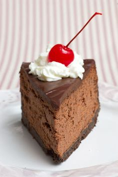 Incredible Triple Chocolate Cheesecake - You start by making a super-duper-easy chocolate crust with chocolate graham crackers and melted butter.  That's followed by an indulgent filling made with cream cheese, melted chocolate and sour cream.  It's all topped off with an easy yet heavenly ganache, made with, you guessed it, MORE chocolate!