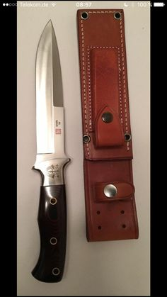 Very nice Al Mar Cool Knives, Knives And Tools, Knives And Swords, Knife Template, Knife Art, Swords And Daggers, Knife Sheath, Fixed Blade Knife, Cold Steel