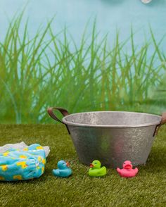The Bath is ready! Our Fluffy Duck Chameleon Cloth Nappy is the perfect post bath accessory
