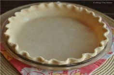 Best Gluten-Free Flaky Pie Crust Recipe-Uses sorghum and millet flours as well as brown rice flour. Gluten Free Sweets, Gluten Free Cooking, Dairy Free Recipes, Vegan Gluten Free, Baking Recipes, Sin Gluten, Allergies Alimentaires, Gluten Free Pie Crust, Crust Recipe