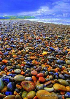 Colourful shore at Lake Huron Beach Beautiful Nature Pictures, Beautiful Rocks, Amazing Nature, Nature Photos, Beautiful Beaches, Beautiful Landscapes, Beach Rocks, Beach Stones, Sea Glass