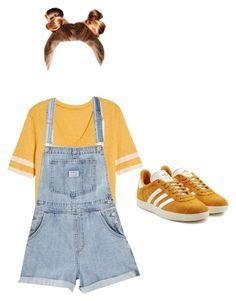 """sunshine ☀️"" by thewalkingspirit on Polyvore featuring Treasure & Bond and adidas Originals"