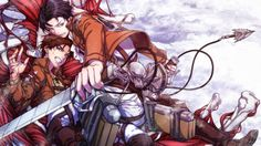Eren Jaeger Levi 3D Maneuver Gear Attack on Titan Shingeki no Kyojin Anime Wallpaper HD e03 Male Weapon.