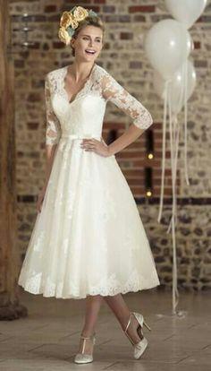Brighton Belle Tea Length Wedding Dress   Mae   bad ass dresses ...