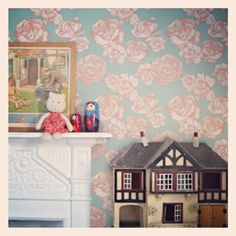 abigail*ryan Flamingo Rose wallpaper... Image c/o of our new stockist, @Wallpaperdirect :)