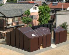 daigo ishii + future-scape architects orient sliced house of toilet
