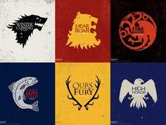 las casas de Game of Throne