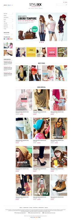 Responsive Magento Theme - Stylixx Asian Fashion  #magentothemes #onlinestores #ecommercethemes #ecommercewebsites