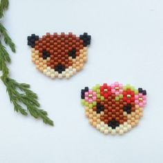 Brick stitch bear                                                                                                                                                                                 More