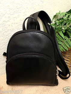 Details about Women's Faux Leather Small Mini Backpack Rucksack ...