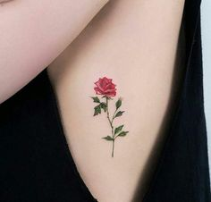 red rose tattoo, floral tattoo